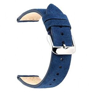 Image 3 - EACHE 18mm 20mm 22mm Kordonlu Saat 100% Süet Deri saat kayışı erkekler kadınlar için saat kordonları
