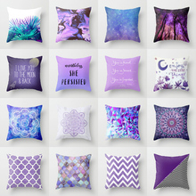 Elife Retro Purple Bohemian mandala Linen cotton cushion Plum Home Decor Pillow Bedroom Decorative Sofa Car Throw Pillows