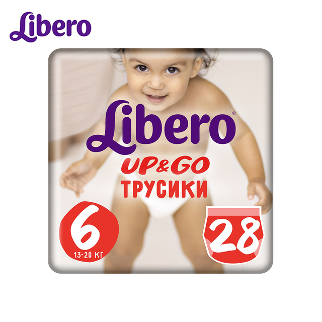 Трусики-подгузники Libero Up&Go Size 6 (13-20 кг), 28 шт.