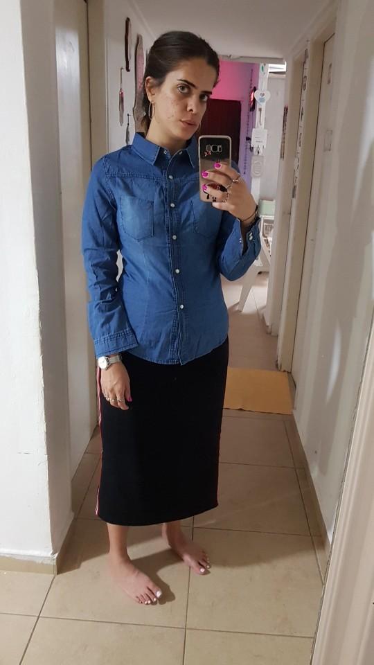 Fashion Long Sleeves Casual Denim Shirt Women Snap Button Cotton Ladies Shirt Plus Size Blue Jeans Shirt Camisa photo review