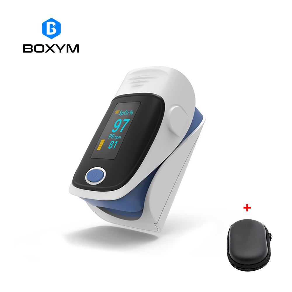 BOXYM OLED Finger Pulse Oximeter Oximetro de dedo blood oxygen Heart Rate Saturation Meter Saturometro Monitor CE