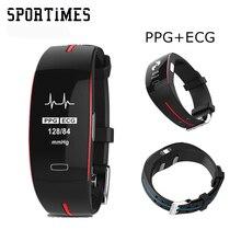 OriginalR66 Inteligente Pressão Arterial Pulseira PPG + ECG Monitor de Freqüência Cardíaca GPS Venda Quente Inteligente Relógio Do Esporte Pulseira De Fitness Rastreador