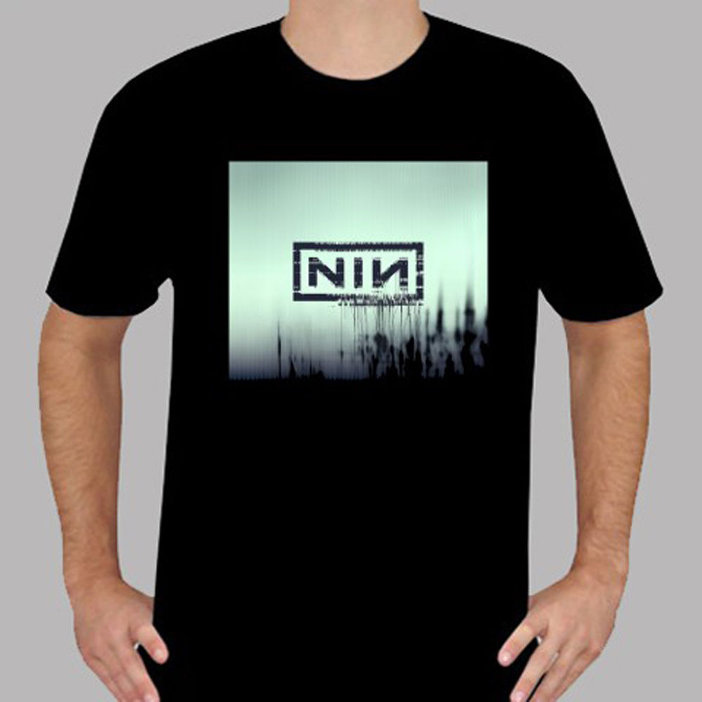 Nin Nine Inch Nails With Teeth Album *Dave Grohl Black T Shirt Size ...