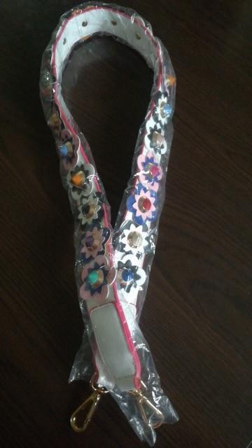 Hot fashion personality flower rivet handbags belts women bags strap women bag accessory bags parts pu leather icon bag belts photo review