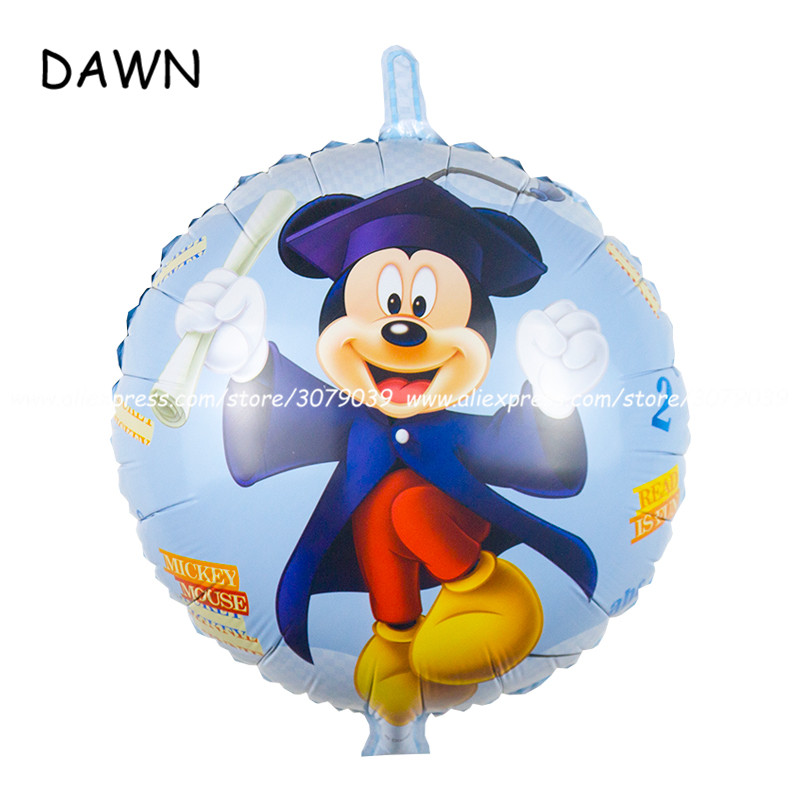 25pcs/lot 18inch cute Mickey doctor balloons cartoon Mickey Minnie mouse helium Ballons for Kids Birthday Party Decorations