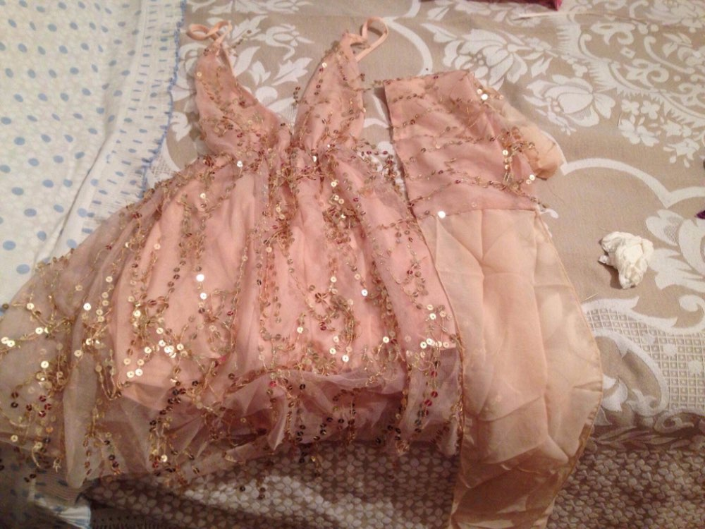 Sexy Backless Tassel Sash Sequin Short Party Dresses Women Halter Club Ladies Mini Dresses photo review