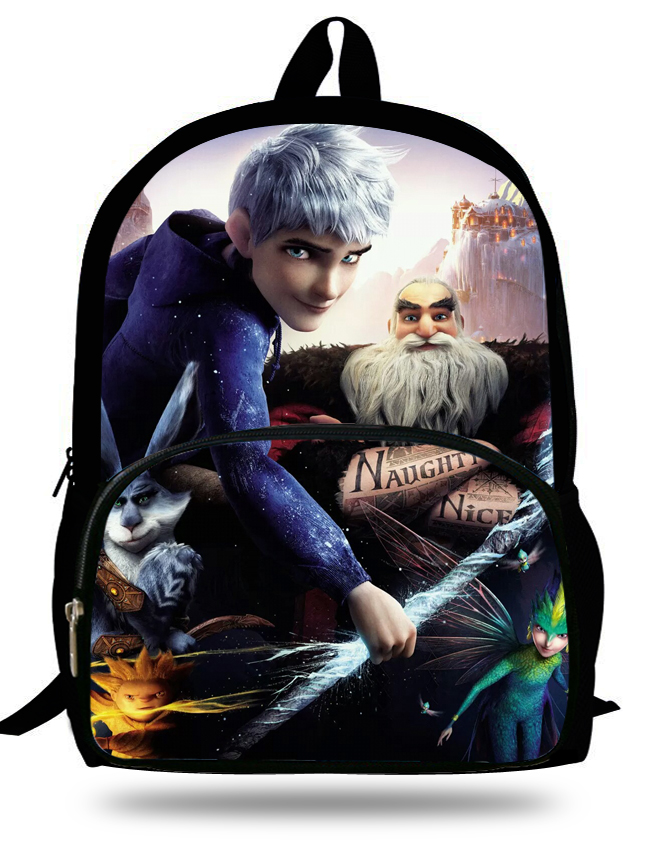 16-inch Rise Of The Guardians Backpack Jack Frost Age 7-13 Childlren Backpack Kids School Bags For Boys Mochila Escolar Menino