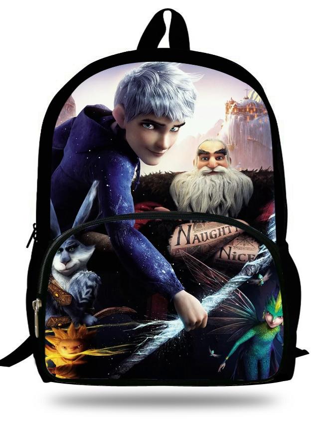 16-inch Rise Of The Guardians Backpack Jack Frost Age 7-13 Childlren Backpack Kids School Bags For Boys Mochila Escolar Menino