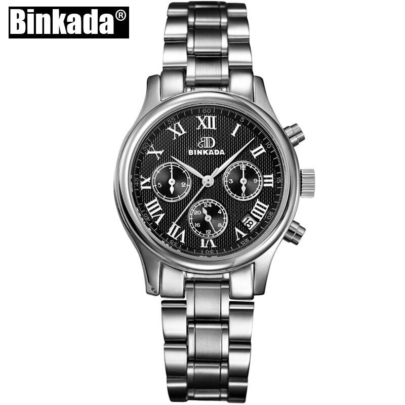 Модные женские механические часы Авто Дата Роскошные автоматические часы Для женщин Повседневное Бизнес наручные часы классические часы