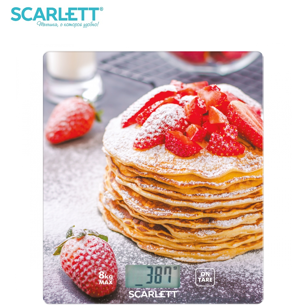 Scale kitchen electronic Scarlett SC-KS57P34 Kitchen scale kitchen Measuring Tool Scales for kitchen Electronic scale brand eyki 30m waterproof business casual watch roman scale couple watches digital scale leather strap japan movement 1005