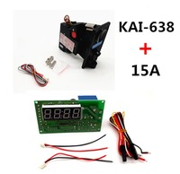 Plastic front plate KAI 638C comparable CPU coin acceptor selector with 4 digits JY 15 timer
