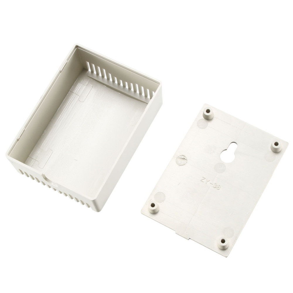 Uxcell Plastic Dustproof Cover Electronic Project Instrument Enclosure DIY Box Case Junction Box Housing 75x55x28mm White