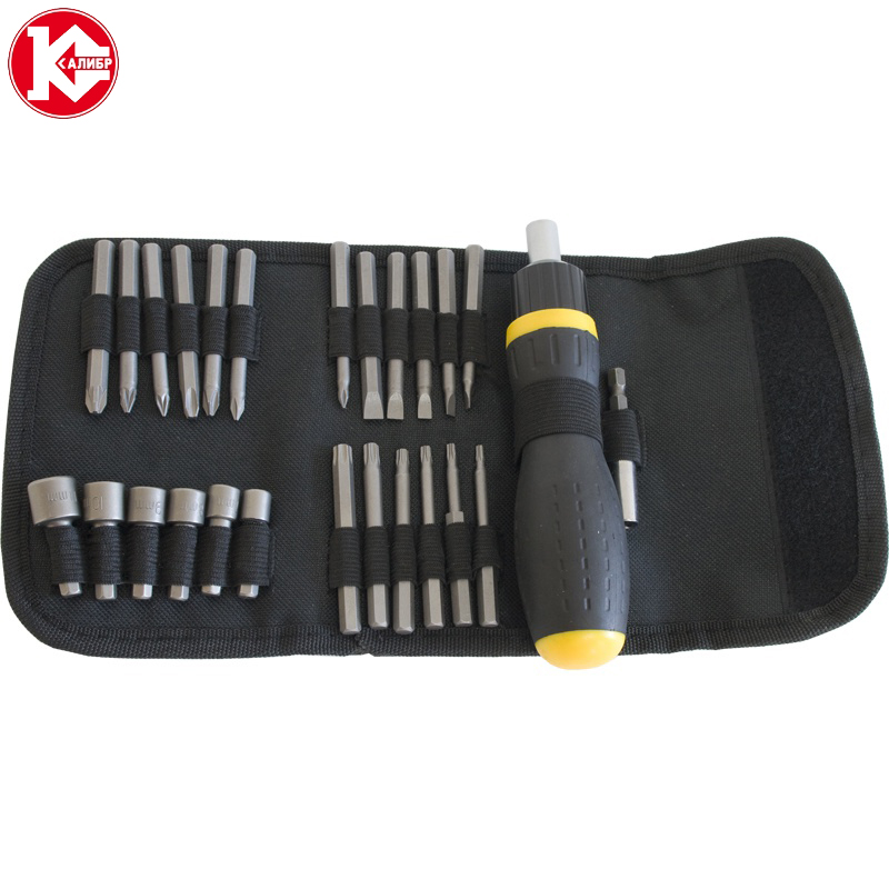 Multi-function kit with Screwdriver Kalibr NSO-27 Repairing Tools Sets, Hand Tools 27 subjects newacalox cable wire stripper multifunctional self adjustable terminal tool kit crimping plier multi wire crimper screwdriver