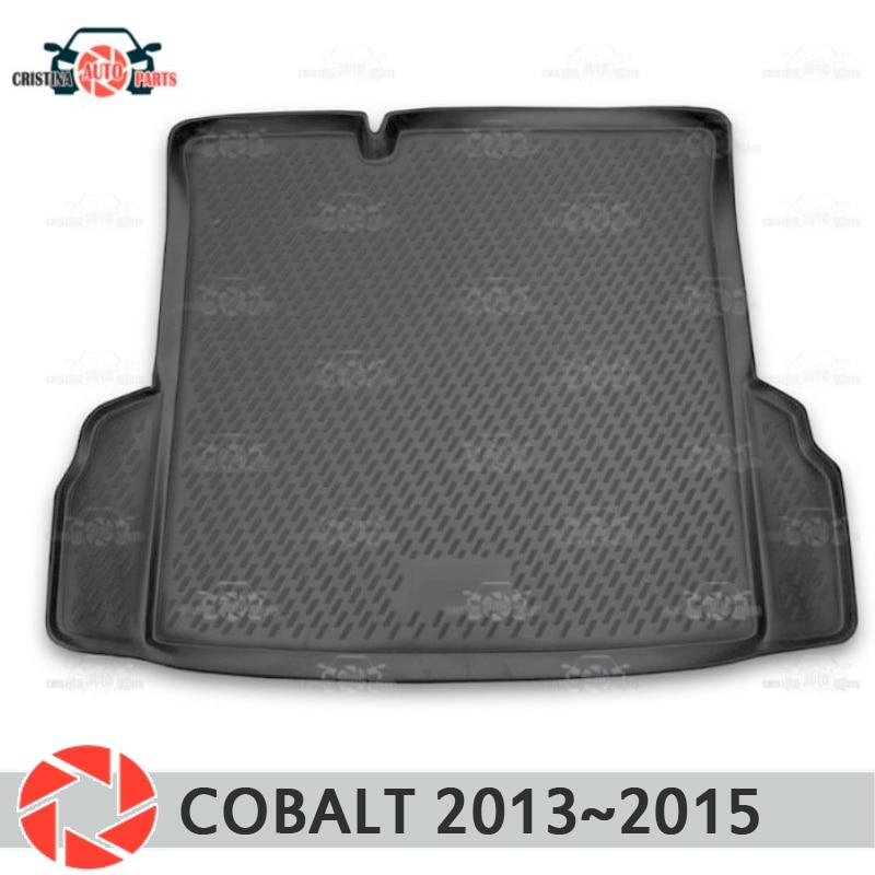 лучшая цена Trunk mat for Chevrolet Cobalt 2013~2015 trunk floor rugs non slip polyurethane dirt protection interior trunk car styling