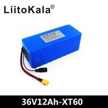 LiitoKala 36 V 12ah 10S4P Lelectric Аккумулятор для велосипеда 18650 литий-ионный аккумулятор 500 W высокой мощности 42 V мотоцикл скуте XT60 штекер