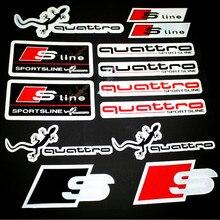 Car Sports Quattro Reflective Sticker Sline Body Decal Logo Styling For Audi A1 A3 A4 A5 A6 A7 A8 Q3 Q5 Q7 S3 S4 S5 S6 S7 S8 TT