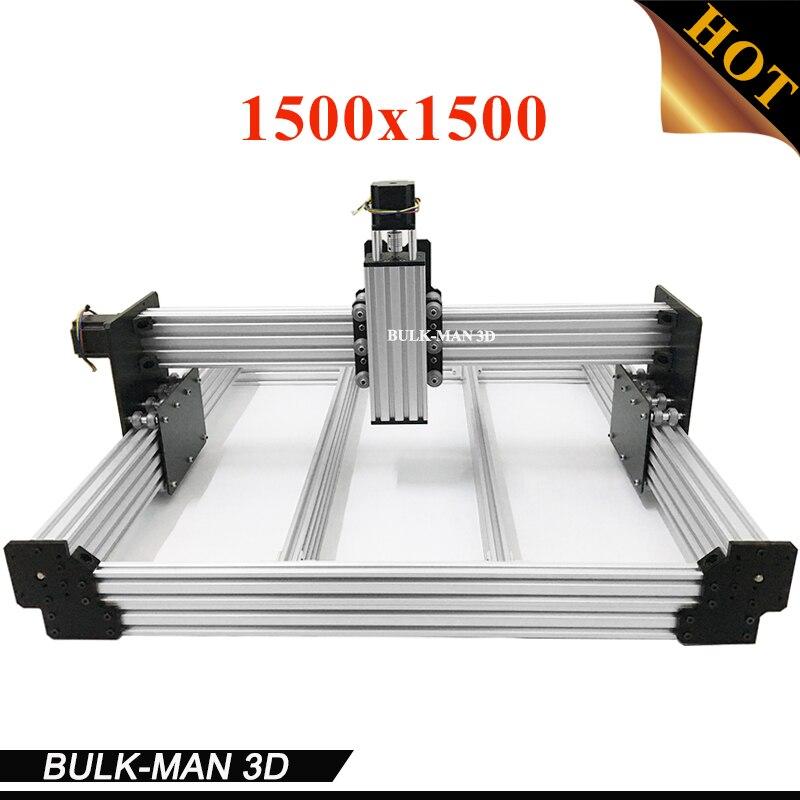 WorkBee CNC Mécanique Kit BOEUF CNC Kit Mise À Niveau Version DIY CNC Sculpture Machine outil, CNC Fraiseuse avec Moteurs 1500x1500mm
