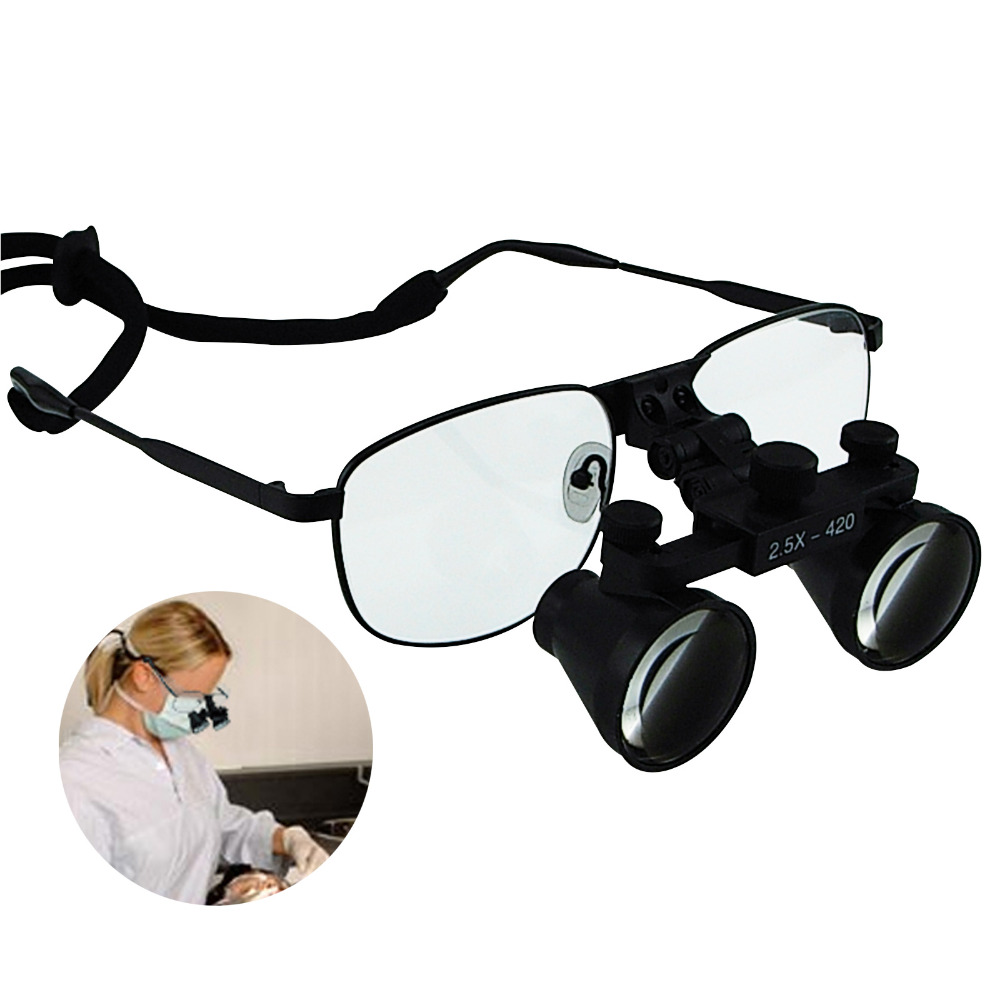 все цены на Nickel Alloy Frame 2.5x 3.5x 4.0x 6.0x Magnification Power Dental Loupes Galilean Keplerian Style Binocular Dentistry Surgical онлайн