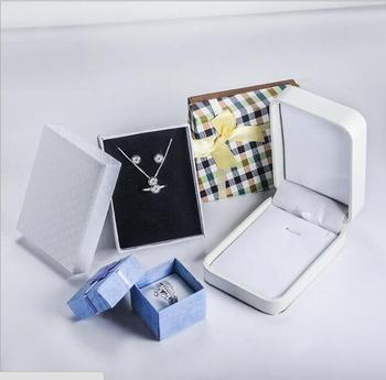 Jewelry Box Packaging Box for Necklace Ring Jewerly Sets Elegant Design Velvet Design Can Customize Request image