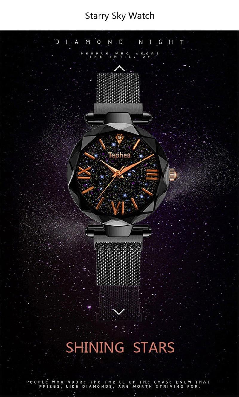 Luxury Women Watches Magnetic Starry Sky Female Clock Quartz Wristwatch Fashion Ladies Wrist Watch reloj mujer relogio feminino (10)