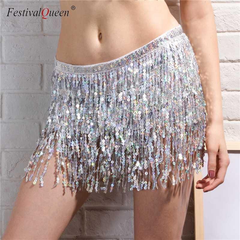 b604805a FestivalQueen sexy tassel fringe sequins bandage skirt women summer beach  short mini skirt female party dance