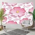 Else розовый белый желтый большие цветы листья цветочный 3D принт декоративный хиппи богемный настенный гобелен с пейзажем настенное искусст...