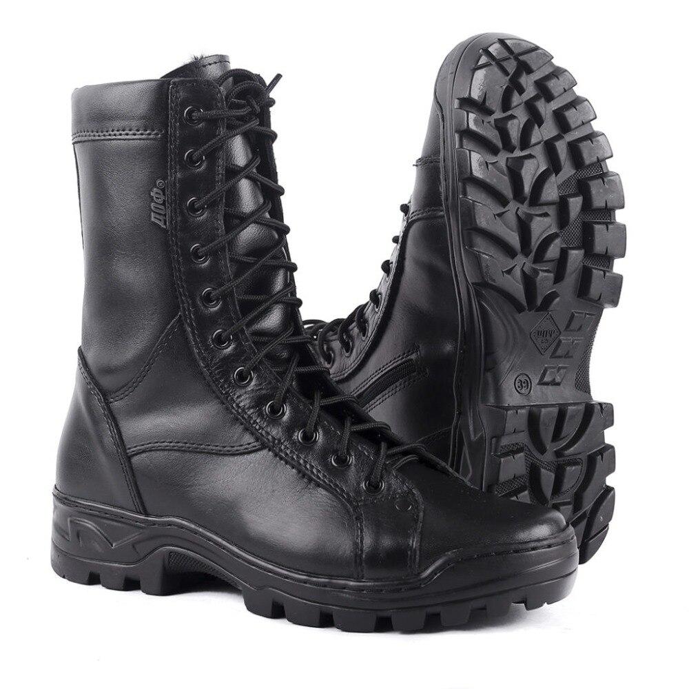 Homem inverno sapatos ankle boots com pele militar do exército tecido de alta qualidade e de borracha sapatos casuais 0054/11 ZA