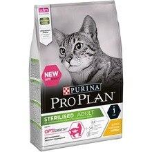 Сухой корм Purina Pro Plan для стерилизованных кошек и кастрированных котов с чувствительным пищеварением, с курицей, 4 х 3 кг