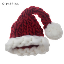 Giraffita Woolen Complete Hand Knitting Thick Adult Children Christmas Hat New Year Gift Christmas Decorations