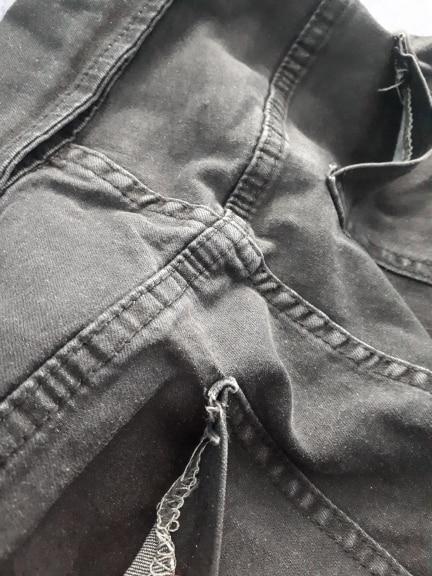 Sexy Skinny Denim Jeans Women High Waist Buttons Fold Streetwear Pants Capris Summer Fashion Female Gray Pencil Jeans photo review