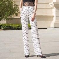Women Chiffon Wide Leg Pants 2018 Summer High Waist Loose Pants Polka Dot Casual Thin Throusers for Female Plus Size 3XL