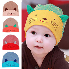 2017 Top Quality Cute 3D Cat Striped Baby Kid Boy Girl Soft Warm Hat Cap Cotton Beanie 7ESX 7NA3