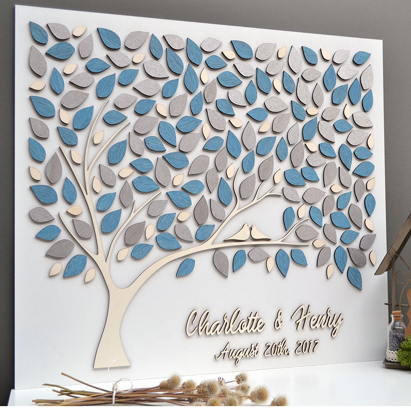 Personalized Wedding Guest Book With Names,Unique Guest