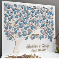 Personalized Wedding Guest Book With Names,Unique Guest Book Ideas, 3D Guestbooks For Wedding Gift Guest,Custom Guest Books Tree