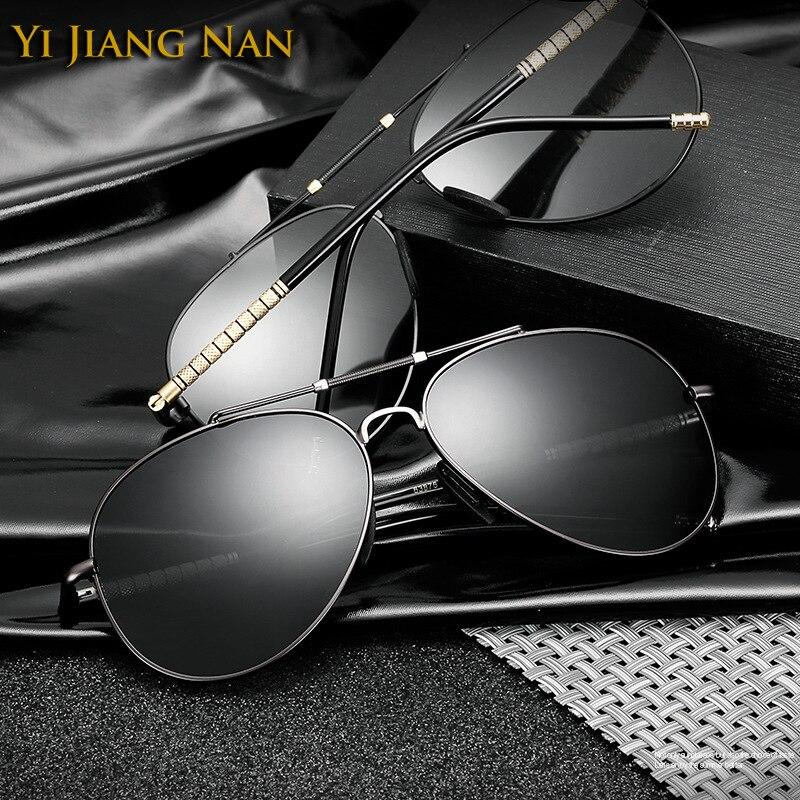 Yi Jiang Nan Brand New Elegante Aviator Occhiali Da Sole Occhiali Uomini Occhiali Da Sole Polarizzati Oculos De Sol Mas UV400 Gafas de Sol de los Hombres