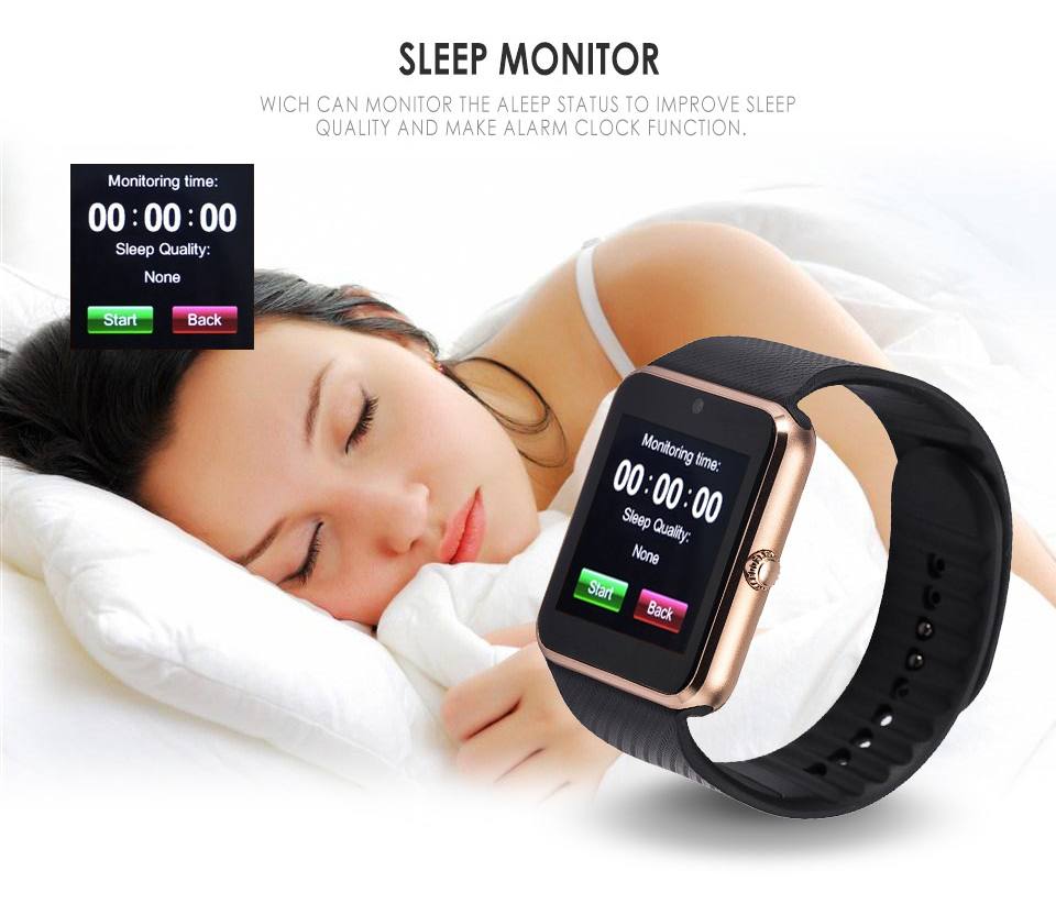 GT08 Metal Strap Bluetooth Wrist Smartwatch Support Sim TF Card Android&IOS Watch gold x1 18