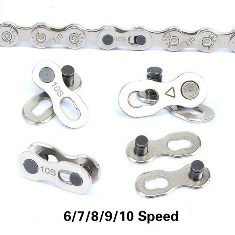 1 Pair Bike Chain Magic Buckle Connector Mountain Bicycle Chain Connector for 6/7/8/9/10 Speed Quick Link Repair Tool kmc missing link bicycle chain link 6 7 8s and 9 speed 10s 11s