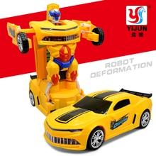 Лидер продаж 3D мигающий светодиод музыка автомобиль электрический деформации машинки детская игрушка в подарок транспортных средств