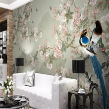 Цветок и птица фон стены профессионального производства Фреска с фабрики обои плакат фото стены
