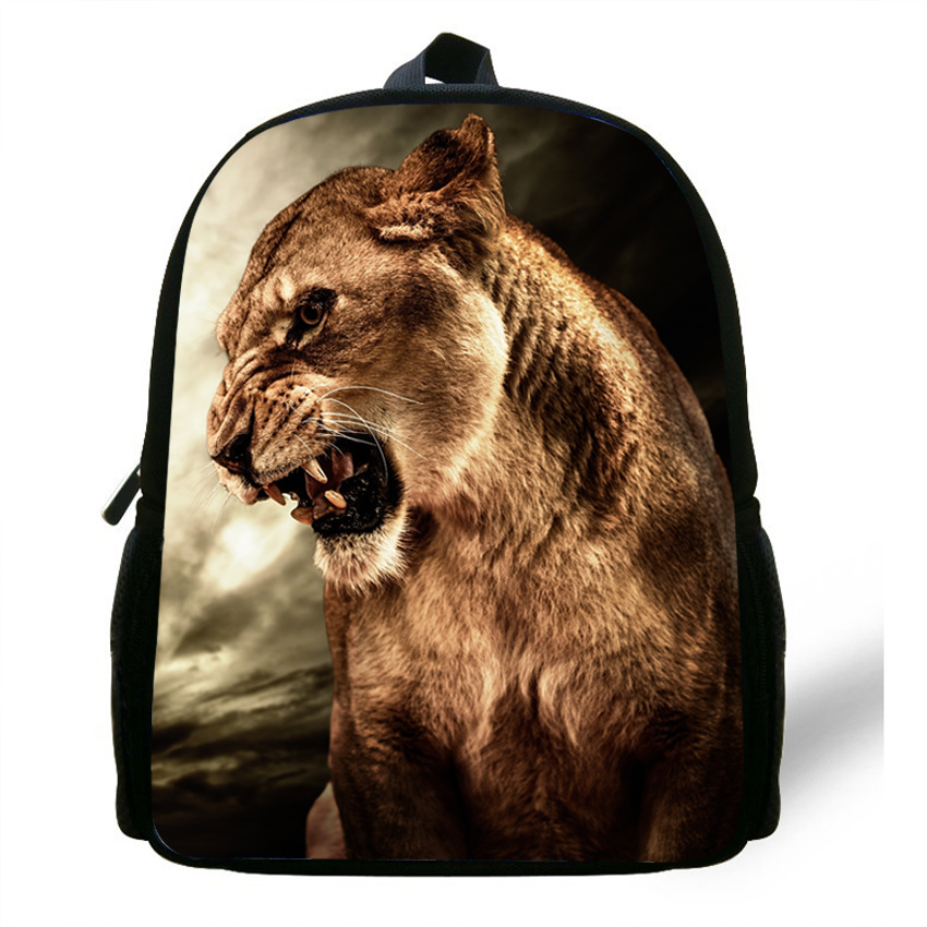 12inch Zoo Lion Backpack Animal School Bags For Kids Animal Backpack Children Girls Casual Boys Bag School Mochilas infantis|bag for kids|school bags for kids|school bags - title=
