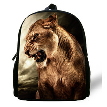 12inch Zoo Lion Backpack Animal School Bags For Kids Animal