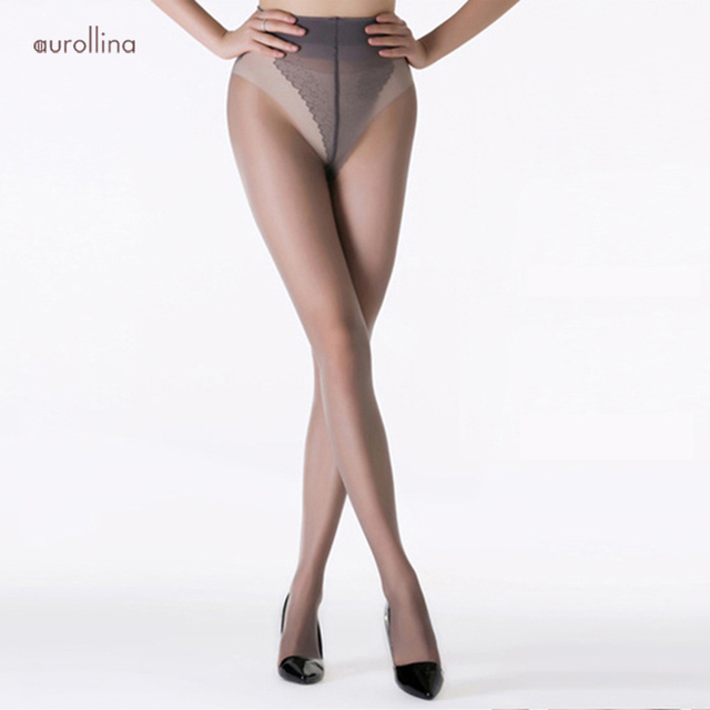 Woman Sheer Tights Bikini Panty Pantyhose Special Waist Band Design Wrap-Proof To Help The Pantyhose To Hold On Tight 2 Seams
