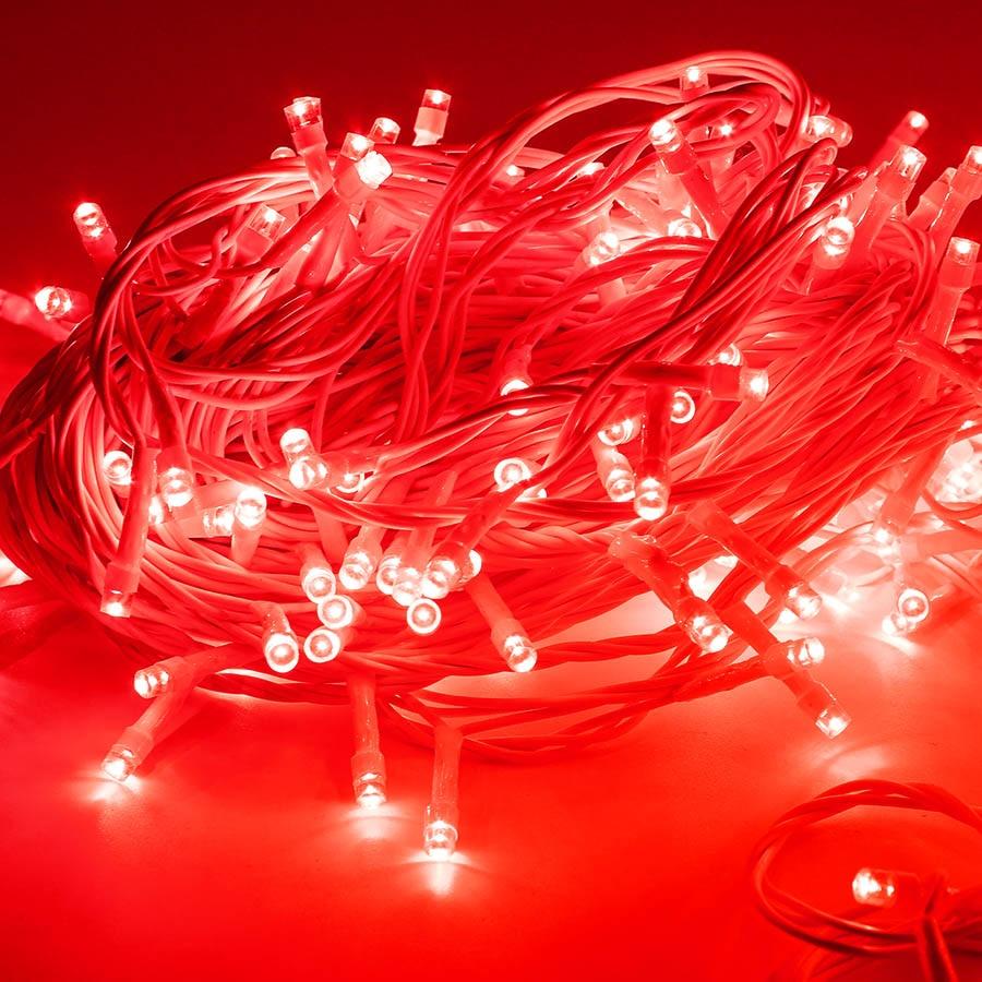 50M EU Plug Led String Lights Outdoor Waterproof led wire Fairy Light Red Green Christmas Home Garden Holiday decoration Lights beautiful alumium ip67 outdoor eu us uk plug tree garden party festival christmas decoration green red mini led laser light