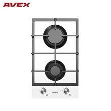 Встраиваемая панель с газконтролем, с чугунными решетками AVEX HM 3022 W , белое закалённое стекло