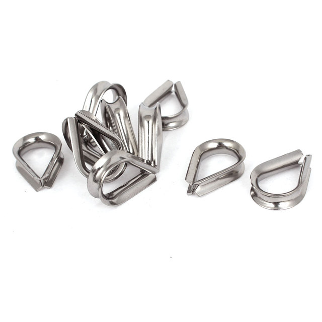 UXCELL Stainless Steel 6Mm Standard Wire Rope Cable Thimbles ...