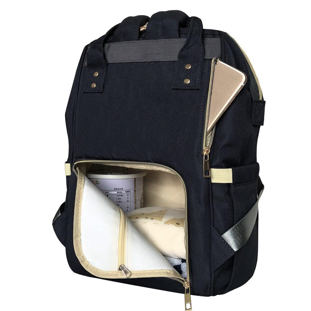 US $23.38 29% OFF|LAND Baby Tasche Fashion Große Wickeltasche Rucksack Baby Organizer Mutterschaft Taschen Für Mutter Handtasche Baby Windel Rucksack