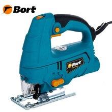 Лобзик электрический Bort BPS-570U-Q (мощность 570 Вт, быстрозажимной патрон, маятниковый механизм, подключение к пылесосу)
