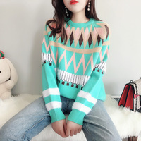 Harajuku Sweater Winter Women Striped Loose Pullovers Female Cotton Autumn Knitted Jumper