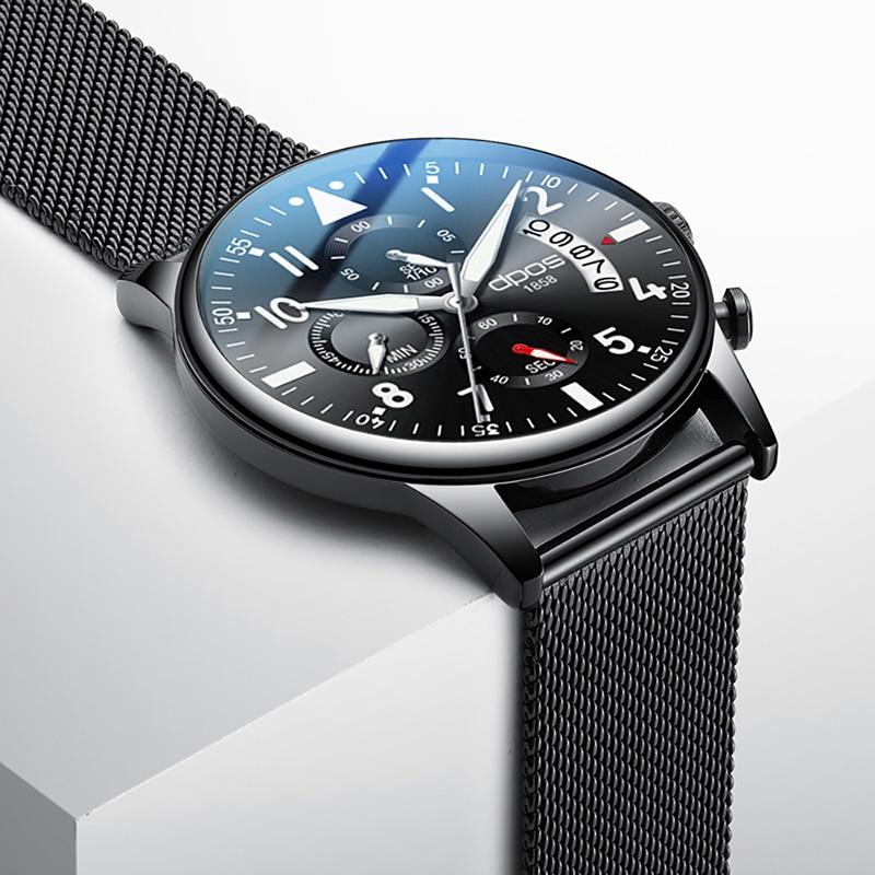 SINOBI Men Watches 2017 Luxury Brand Men Quartz Male Sport Watches Stainless Steel Waterproof Wristwatches Relogio Masculino