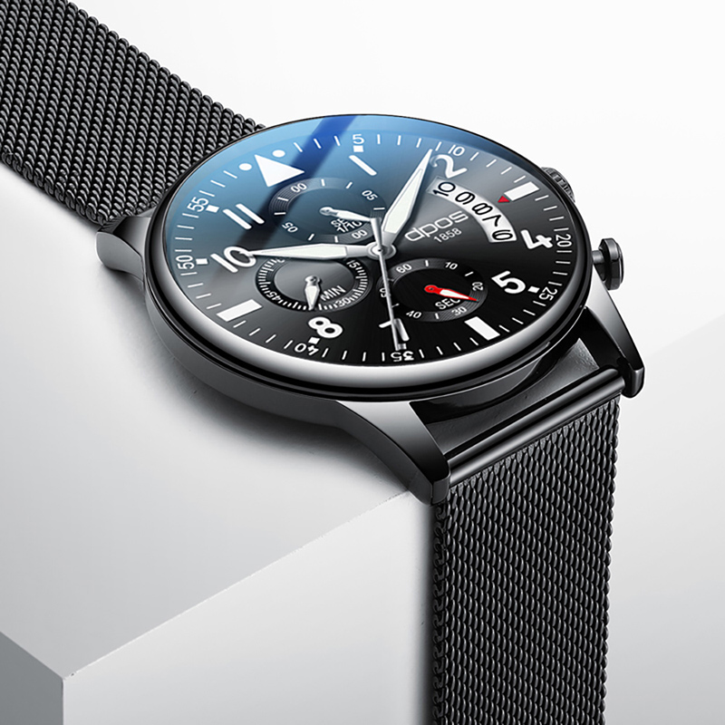 Men Chronograph Watch For Military Men Watch 2019 Top Brand Luxury Male Wrist Watch Stainless Steel Waterproof Relogio Masculino